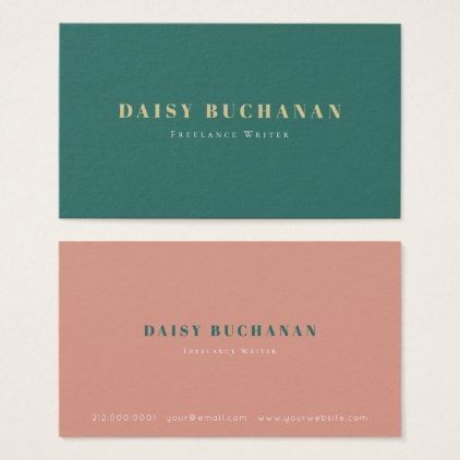 Simple Elegant Dark Green Pink Business Card Zazzle Com Pink Business Card Stylist Business Cards Business Cards Elegant