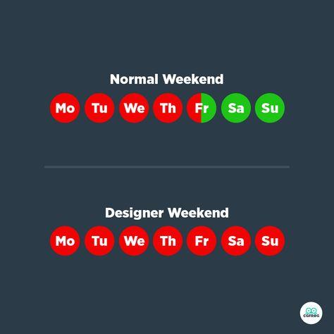 Normal Weekend Vs A Designer Weekend | CGfrog