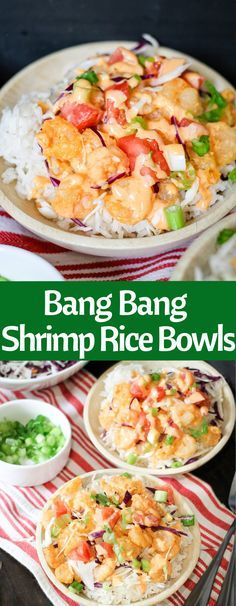 Bang Bang Shrimp Rice Bowls are easy and delicious! With the signature Bonefish . - Bang Bang Shrimp Rice Bowls are easy and delicious! With the signature Bonefish Grill Bang Bang sau - Fish Recipes, Seafood Recipes, Cooking Recipes, Healthy Recipes, New Recipes, Shrimp And Rice Recipes, Recipies, Easy Tasty Meals, Shrimp Rice Bowl Recipe