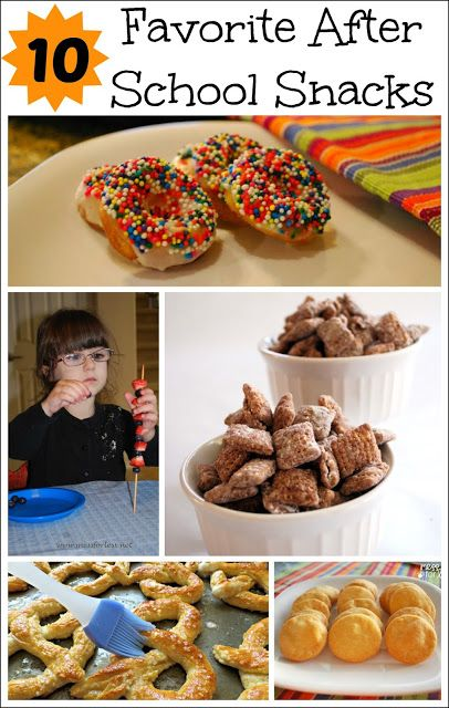 10 Favorite After School Snacks - A collection of snack ideas to serve kid after school if you can keep from eating them yourself!