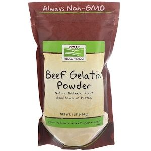 Now Foods Real Food Beef Gelatin Powder 1 رطل 454ج In 2020 Beef Gelatin Powder Beef Gelatin Real Food Recipes