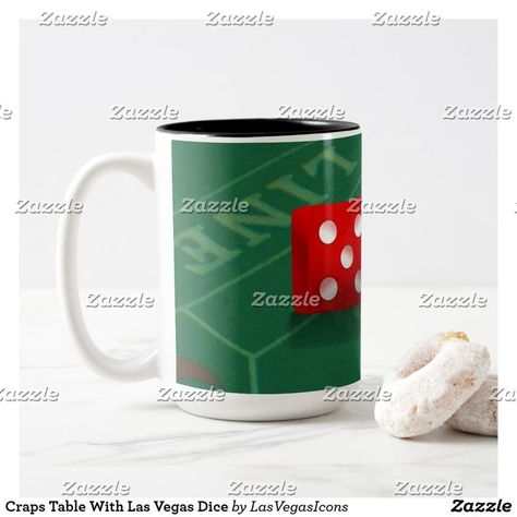 Craps Table With Las Vegas Dice Two Tone Coffee Mug Zazzle