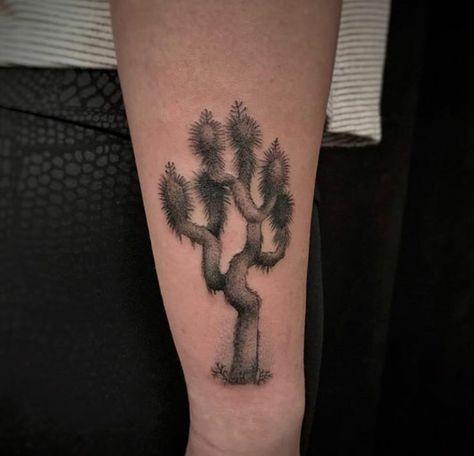 Joshua tree tattoo by Christina Ramos at Memoir Tattoo