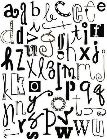 Abecedario En Diferentes Tipos De Letras