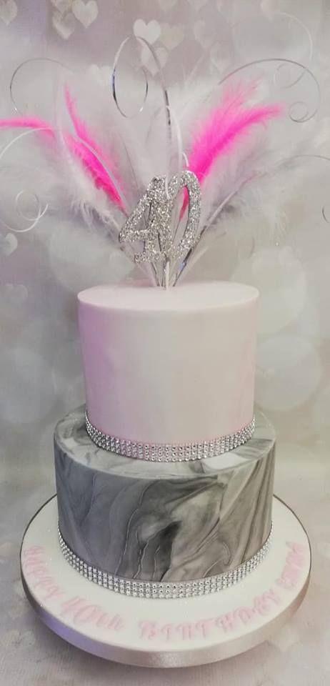 2 Tier 40th Birthday Cake Birthday Cake Girls Tiered Cakes Birthday Rainbow Birthday Cake