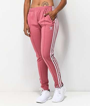 adidas 3 Stripe Mauve Track Pants   Fashion en 2019   Ropa