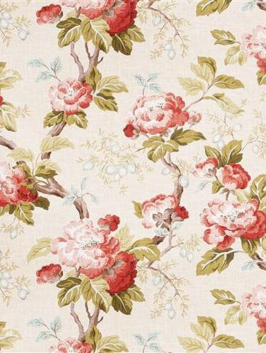 Shabby Chic Upholstery Fabric By The Yard Pink Floral Fabric