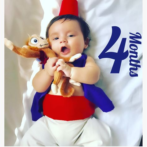 Baby Aladdin Costume, for every month he turns older I like to dress him like a Disney character ❤️