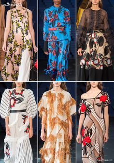 London Catwalk Print & Pattern Highlights – Spring/Summer 2018 Ready-to-Wear