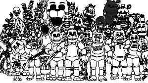 Resultado De Imagem Para Five Nights At Freddy S Colouring Com