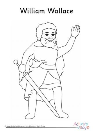 William Wallace Colouring Page William Wallace Coloring Pages