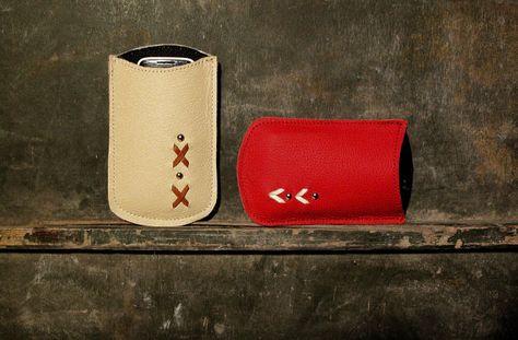 Genuine leather lightweight phone sleeve by xsquareg on Etsy, €9.00