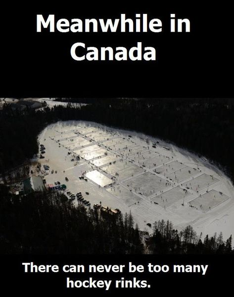 Hockey in Canada. Should be Hockey in Plaster Rock. As this is World Pond Hockey held every February in Plaster Rock, NB Canada. Canadian Memes, Canadian Things, Canadian Humour, Hockey Memes, Hockey Quotes, Funny Hockey, Caps Hockey, Hockey Baby, Hockey Goalie
