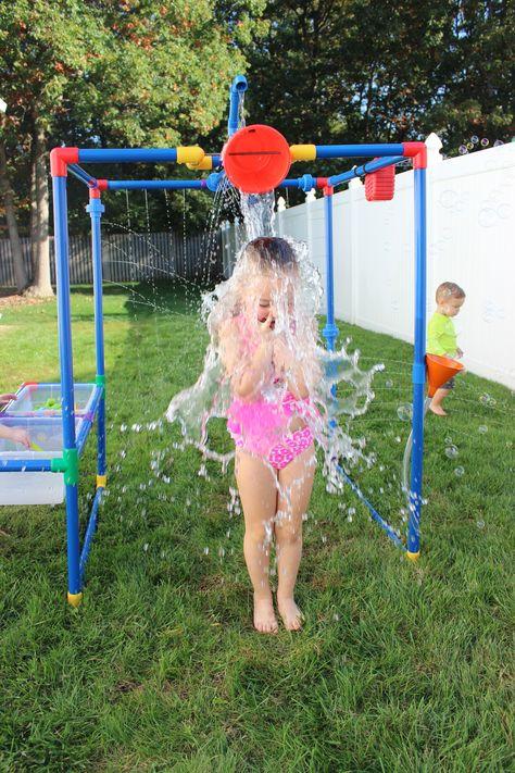 Buckets of Fun Rpbof 6 in 1 Backyard Waterpark Water Toys Sand Outdoor Hobbies for sale online Backyard Water Parks, Backyard For Kids, Backyard Games, Backyard Projects, Kids Backyard Playground, Kids Yard, Water Toys, Water Play, Outdoor Fun