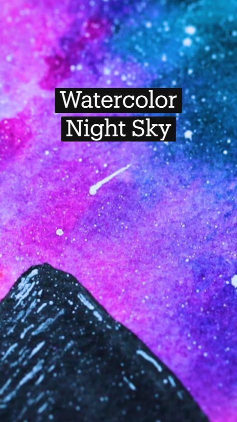 Watercolor Night Sky