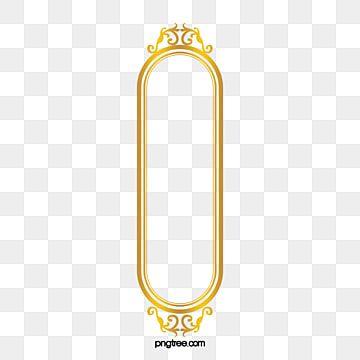 إطار المستطيل الذهبي ذهبي مشبك خالية تزين Png وملف Psd للتحميل مجانا Frame Graphic Design Background Templates Geometric Background