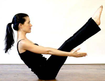 v yoga pose