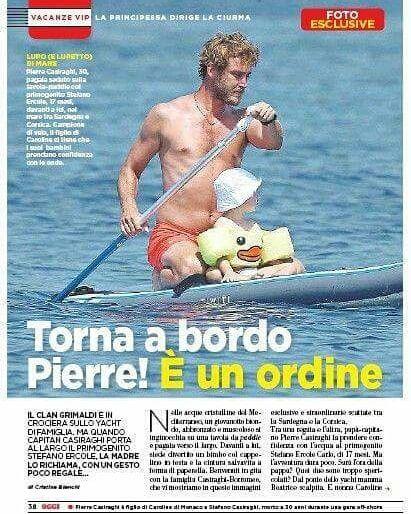 Beatriceborromeo Pierrecasiraghi In Oggi Magazine Pierre Casiraghi Sports Beatrice Casiraghi