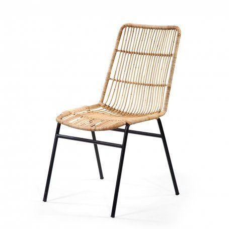 Chaise Rotin Et Metal Bolero Chaise Rotin Chaise Chaise Design