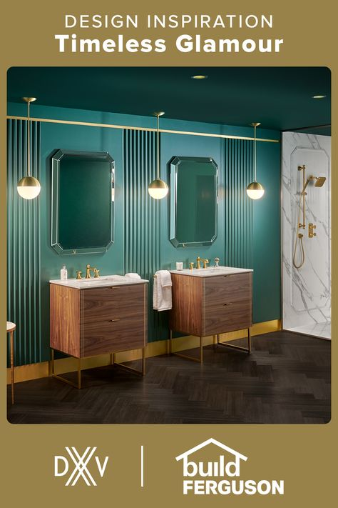 With the perfect blend of timeless design and luxe touch of sparkle, these DXV pieces bring glamour to the bathroom.