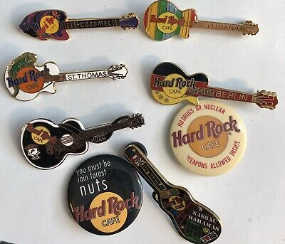 Hard Rock Cafe Guitar Hrc Lot 8 Pins San Juan Cozumel Tijuana Berlin St Thomas In 2020 Cozumel Hard Rock St Thomas