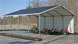 12x26 X 9 Legs Boxed Eave Style Carport Florida 1722 50 Free Delivery And Installation Metal Carports Carport Designs Steel Carports