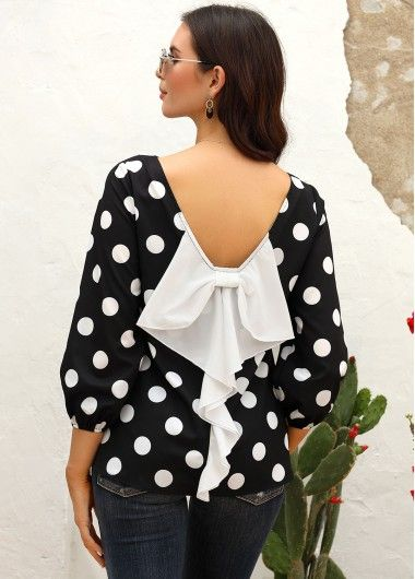Yours Clothing Women/'s Plus Size Black Polka Dot Chemise