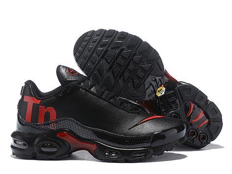 83a087ffece3 Officiel Nike Air Max Plus TN SE Chaussure Nike Mercurial Sneaker 2018 Pas  Cher Pour Homme Noir rouge