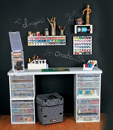 Best New Craft Organizing Tools Video Tour At Creativation Craft Tables With Storage Diy Storage Table Craft Table