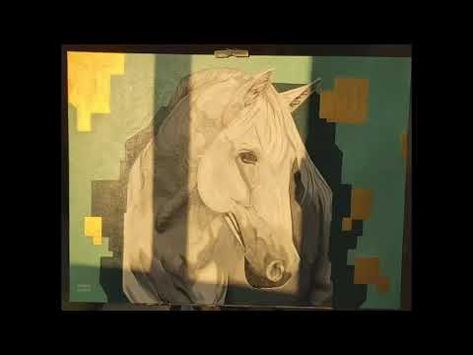 How To Paint A White Horse In 5 Minutes By Acrylic Colors رسم حصان ابيض فى ٥ دقائق بالاكريليك Youtube Painting Art