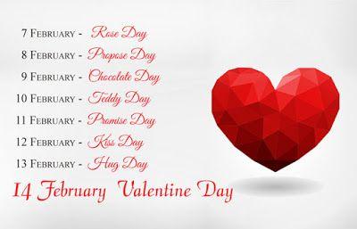 Valentine Week Days Chart Image Valentine Day Week List Valentine Day Week Valentines Day Wishes