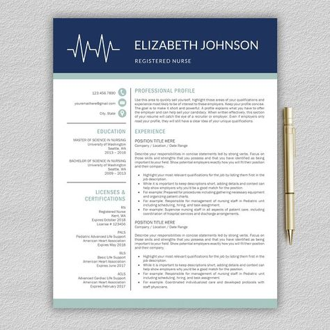 Nurse Resume Medical CV Template by ProGraphicDesign on - resume pro