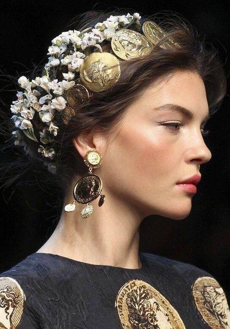 Kate Bogucharskaia backstage at Dolce & Gabbana Spring/Summer 2014