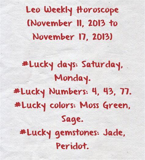 november 11 horoscope leo leo