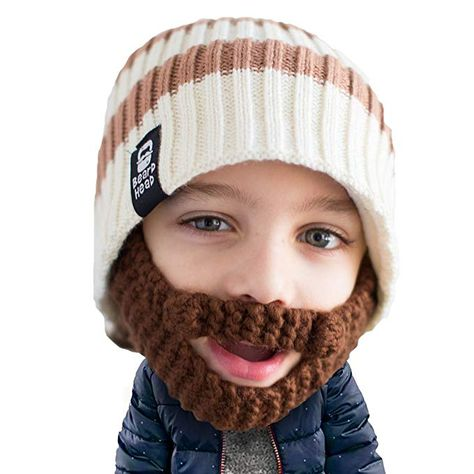 e7c27fd16126d Beard Head Kid Scruggler Beard Beanie - Knit Hat w Fake Beard for Kids  Toddlers