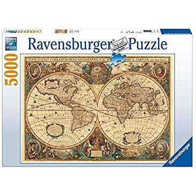 Ravensburger 17411 Historische Weltkarte Puzzle 5000 Teile Weltkarte Puzzle Weltkarte Puzzle