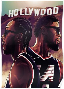 Paul George And Kawhi Leonard Hollywood Clippers Poster Nba Basketball Art Nba Pictures Nba Wallpapers