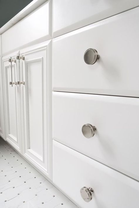If you're doing a home makeover and repainting your cabinets, be sure to check out my top recommended cabinet paint and full tutorials on how to paint cabinets right! | Porch Daydreamer