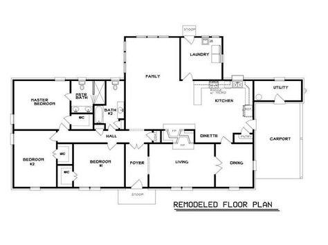 ranch home floor plans popular floor plans master bedroom dual rh pinterest co uk
