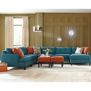 Jonathan Louis 5-Piece Blue Contemporary Sectional | Furniture | Pinterest | Nebraska furniture mart Contemporary and Living rooms  sc 1 st  Pinterest : jonathan louis noah sectional - Sectionals, Sofas & Couches