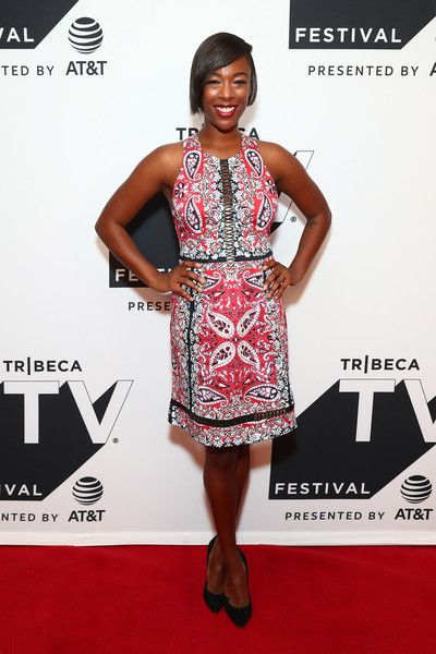 Samira Wiley attends the Tribeca TV Festival series premiere of 'Ryan Hansen Solves Crimes on Television' at Cinepolis Chelsea.