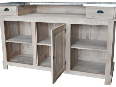 simple dcoration de maison meuble de bar zinc en chne cm. Black Bedroom Furniture Sets. Home Design Ideas