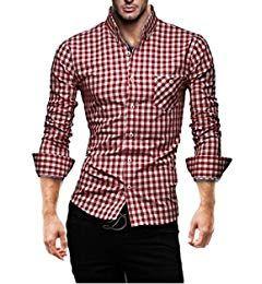 K 2014 Hemd Karriert Blau S Amazon De Bekleidung Hemd Herren Hemden Slim Fit Herren Outfit
