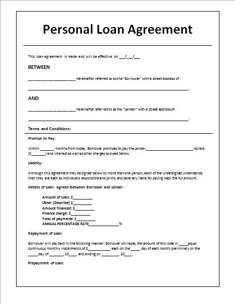 Agreement Format For Money Lending sample contract agreement - 50 - loan agreement sample letter