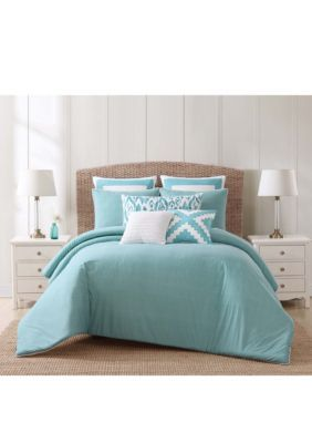 Beach House Brights Twin Xl Comforter Set Blue Group Full