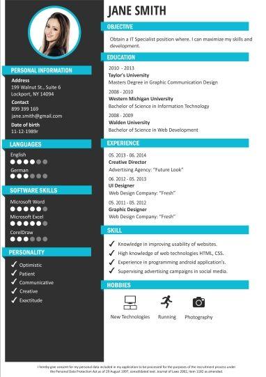 Cv Maker Cv Builder Creative Cv Templates Craftcv Cv In 2020 Creative Cv Template Cv Maker Cv Template Free
