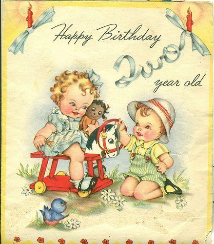 Child/'s Vintage Birthday Card Age 9