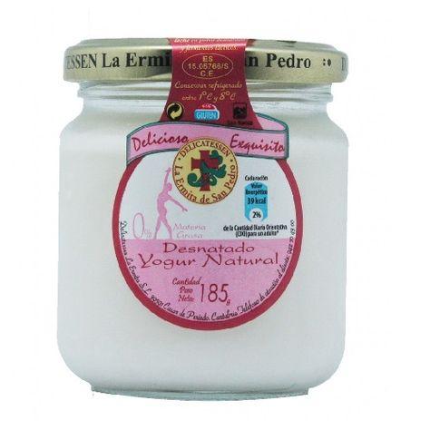 Sin Gluten Yogur Natural Desnatado 185 G Yogur Natural Yogur