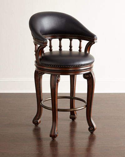 Alexander Swivel Leather Counter Stool Leather Counter Stools