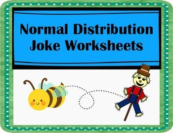 Normal Distribution Joke Worksheets With Images Fun Worksheets